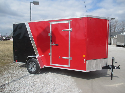 Red Interstate 1 6' x 12' Enclosed Trailer