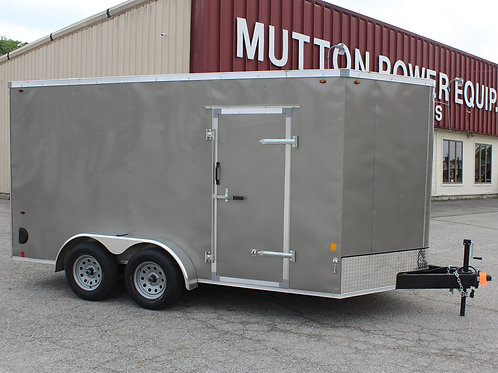 Pewter Interstate 1 7' x 14' Enclosed Trailer