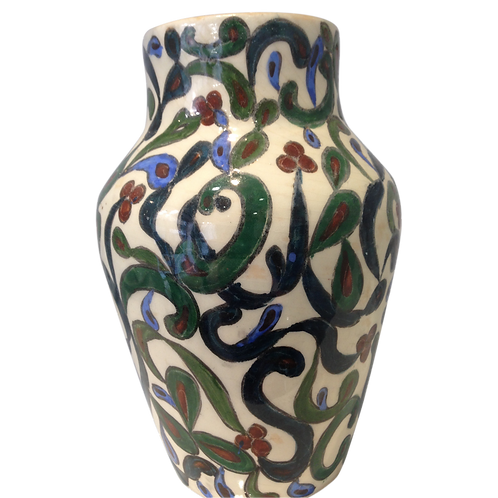 Vase peint 19ème origine Liban signé