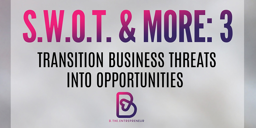 """""""Convert Business Threats Into Opportunities"""": S.W.O.T & MORE"""