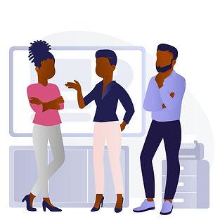 Group of Black Millennials at Office B.j