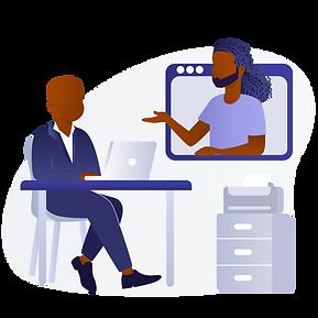 Black Men Office Video Chat.png