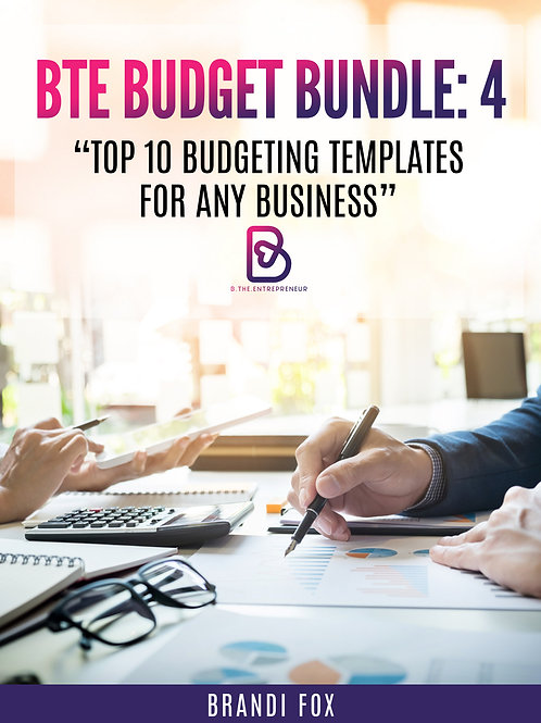 B.T.E Budget Bundle: Top 10 Budgeting Templates for ANY Business ($17)