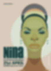 Nina Simone Poster A5 COVER 3mm BLEE1.jp