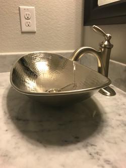 Cerulean Concepts Powder Room Sink Water