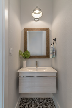 Hard Hill Construction Cerulean Concepts Powder Room