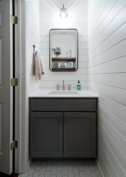 Cerulean Concepts Powder Room Sink and Cabinet