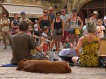 Busking in Sarlat (France)