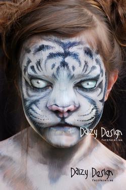 White Tiger FacePaintingig
