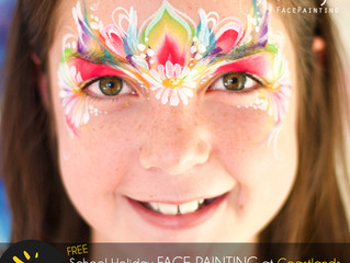 School Holiday Face Painting at Coastlands!