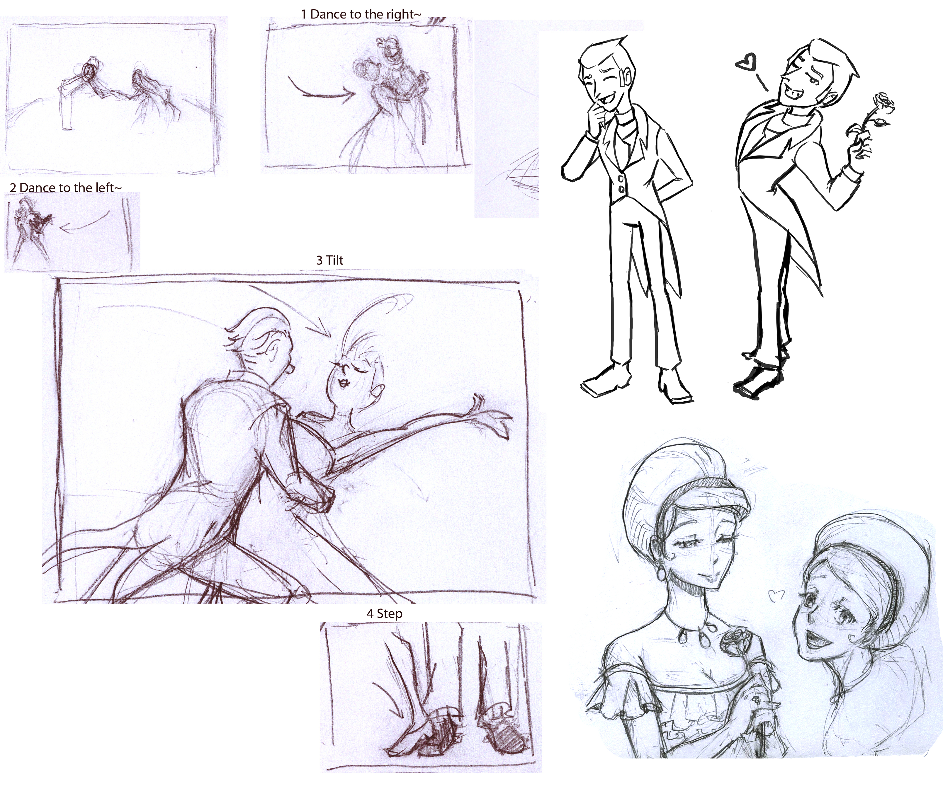 Storyboard and main characters