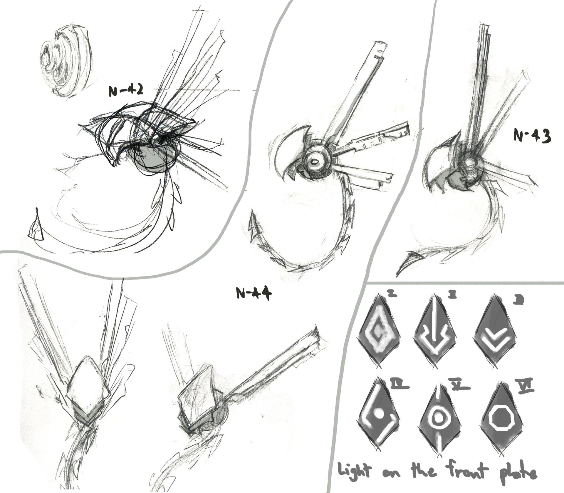 Mechanic Change sketches 3