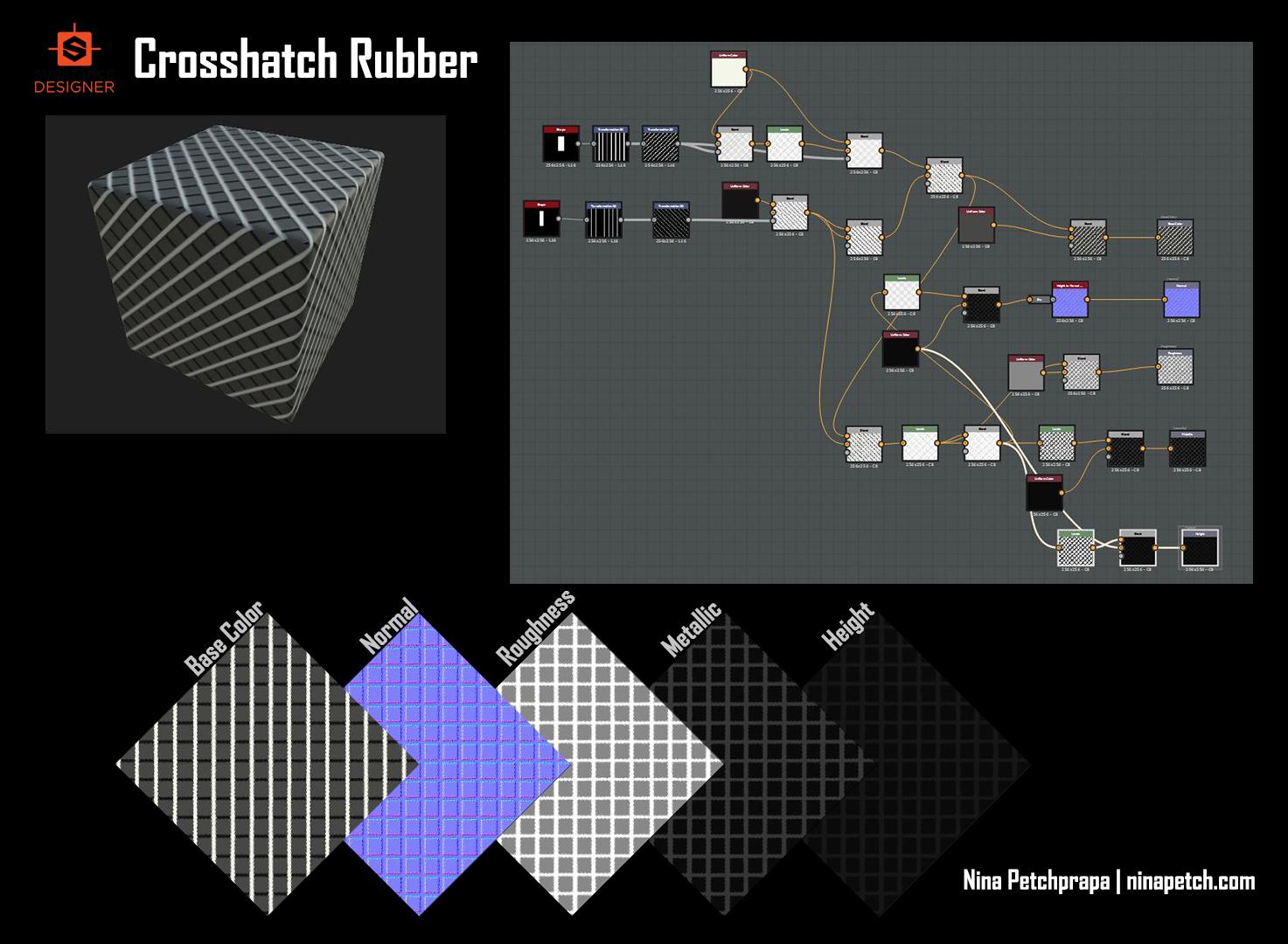 Crosshatch Rubber