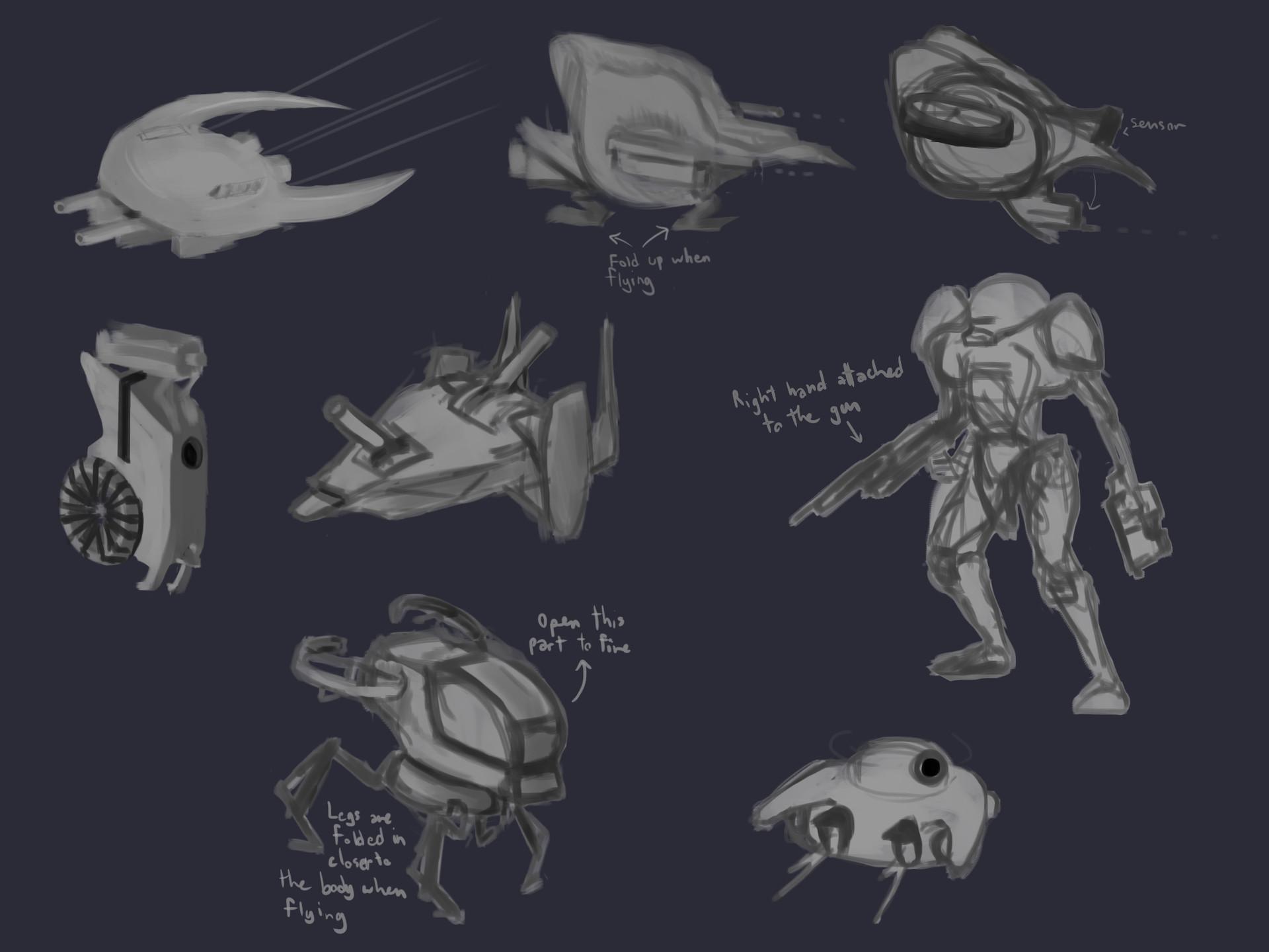 Exploration sketches 1