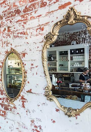 Fig and Walnut interior wall mirrors