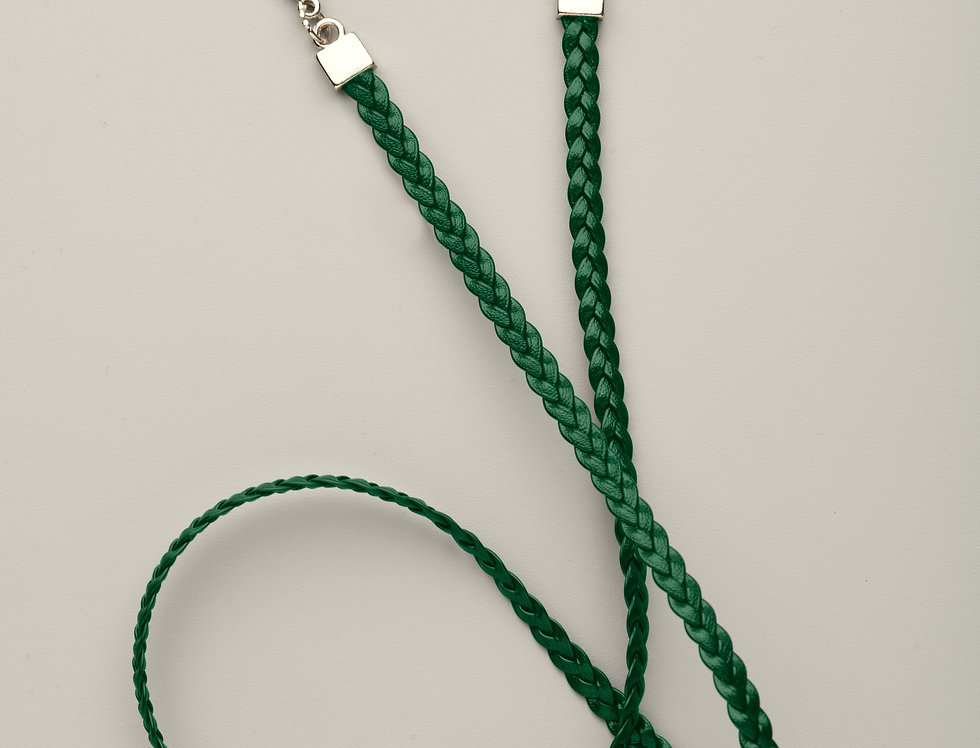 Cuelga-mascarilla Trenzada Verde sin bandera
