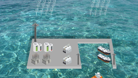 An artificial island in the North Sea to serve as an offshore wind energy hub by Ahmet Fatih Irkli