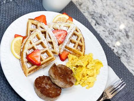 Family Meals Month: Lemon Ricotta Waffles
