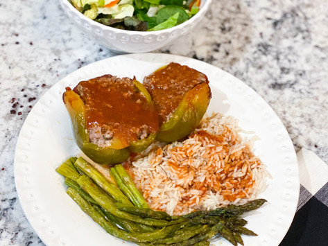 Stuffed Bell Peppers: featuring Stuart Ranch Meat Co Beef