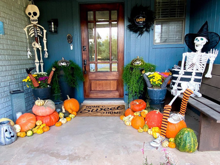 Spooky Season Decorations: Simple decorations and a walk down Halloween lane.