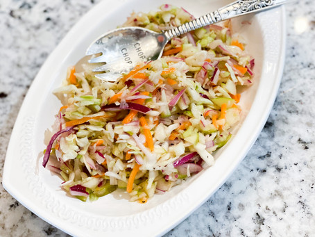 Granny Smith Coleslaw: same ingredients two different slaws.