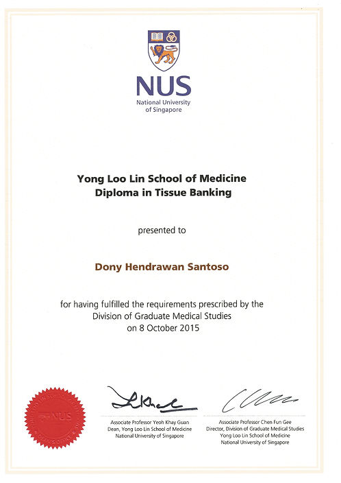 Certificate of National University of Singapore