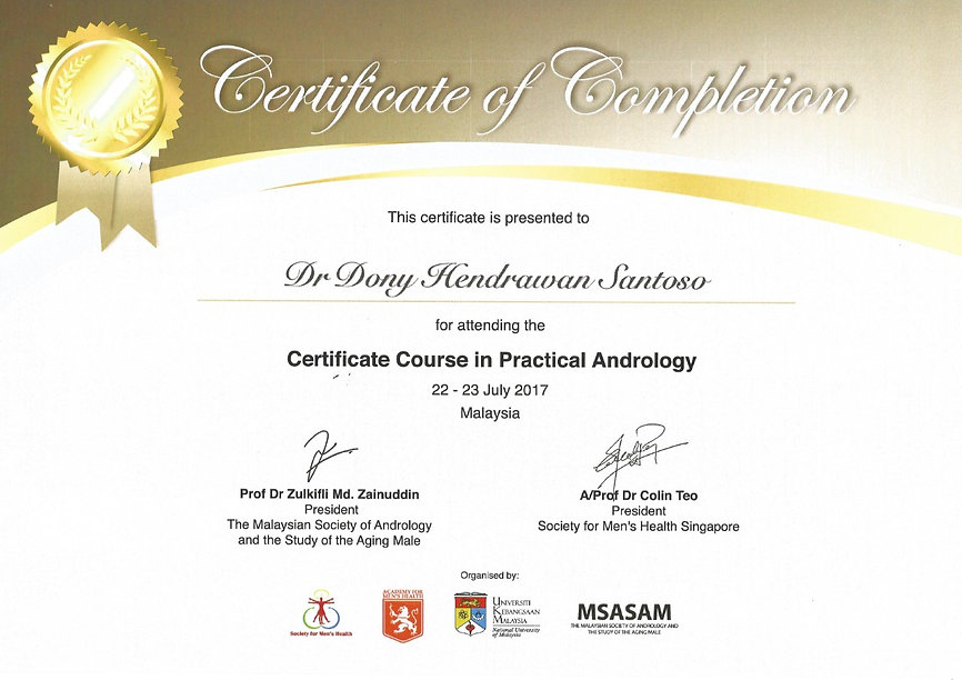 Certificate Course in Practical Andrology