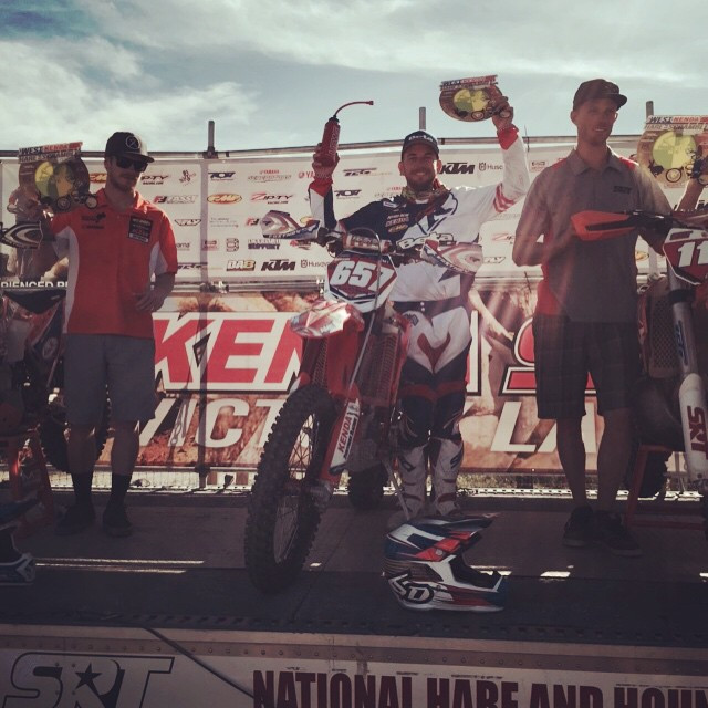 Facebook - 1st overall today at the AMA West coast hare scramble. Finally put to