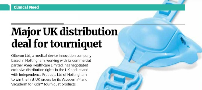 Olberon featured in major UK Lifescience Industry magazine