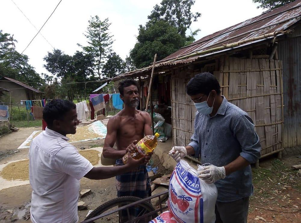 Image: helping the needy
