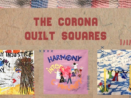 """""""Quilting is a timeless form of art to express oneself"""". Join hands for Corona Quilt of Humanity."""