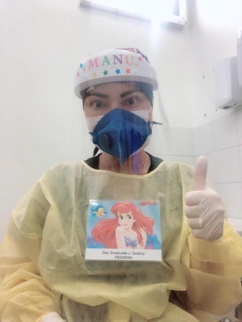 Image: Emanuelle in PPE suit