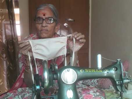 79-year old Mrs. Sharma from India - an inspiration to all