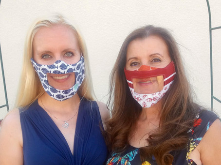Kelly and her mom have built a prototype of a window mask to help the people with hearing impairment