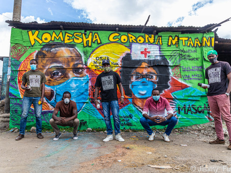Mathare Roots, a Youth Group from Nairobi, Kenya, is spreading COVID19 awareness through Graffitis