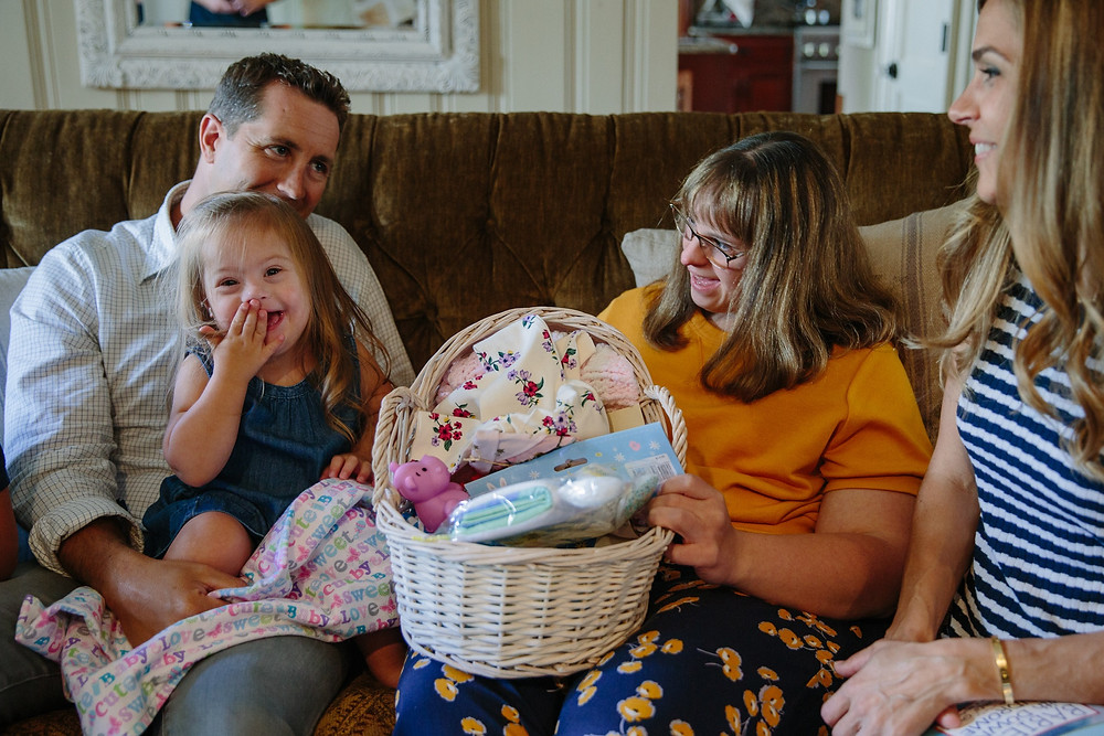 Image: First baby receiving Brittany's Baskets of Hope