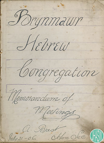 Meeting book of the Brynmawr Hebrew Congregation