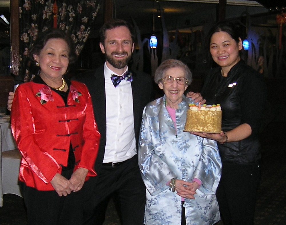 1.. Chair Dr. Lourdes Andaya, CCS director Joe Balistreri, honorary chair Rosemary Bannon, Golden Harvest's Kelly Zhang with celebration cake Chair Dr. Lourdes Andaya, CCS director Joe Balistreri, honorary chair Rosemary Bannon, Golden Harvest's Kelly Zhang with celebration cake