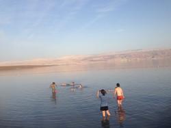 Floating on Salt (Dead-Sea 2017)