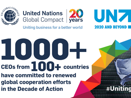 Business leaders from more than 100 countries pledge support for multilateralism as UN turns 75