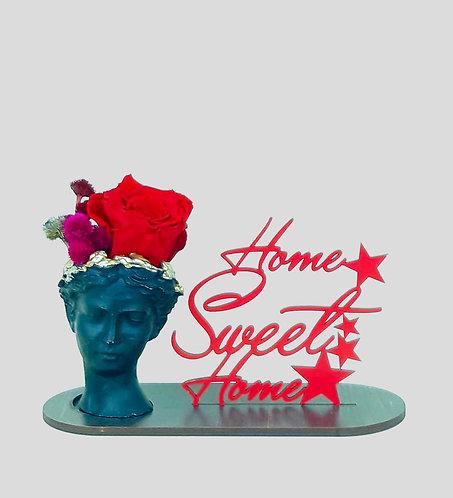 HOME SWEET HOME - Helen Saksıda  Kırmızı Solmayan Gül