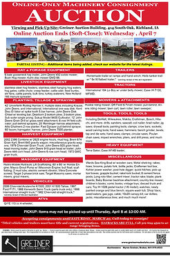 Online Spring Machinery Consignment