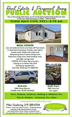Real Estate Auction + More - Live On-Site