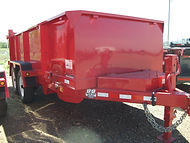 Rent Dump Trailers, B-B 6' x 14', 3' sides, B&B Rental, Sidney, MT