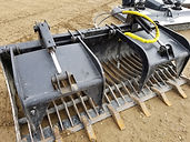 "Skidsteer 80"" Rock Grapple for rent, B&B Rental, Sidney, MT"