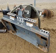 Skidsteer Post hole auger