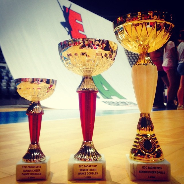 European Cheerleading Championships 2015 1st, 3rd & 3rd.JPG
