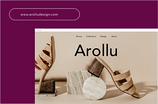 Custom Domain name for a shoe website called Arollu.