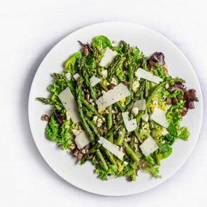 Salade de printemps et pecorino