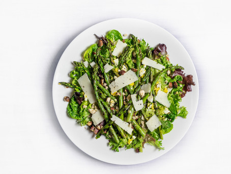 Spring greens and pecorino salad
